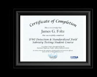 OVI attorney akron Foltz DWI Certificate
