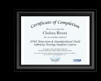 OVI attorney akron Rivera DWI Certificate